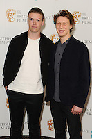 Will Poulter and George MacKay is announced as a nominee for the EE Rising Star Award 2014 at BAFTA, London. 06/01/2014 Picture by: Steve Vas / Featureflash