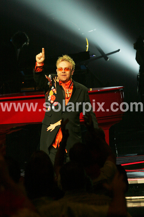**ALL ROUND PICTURES FROM SOLARPIX.COM**.**SYNDICATION RIGHTS FOR UK, SPAIN, PORTUGAL, AUSTRALIA, S.AFRICA & DUBAI (U.A.E) ONLY**. Elton John Red Piano 200th Concert at The Coliseum at Caesars Palace in Las Vegas Hotel and Casino in Nevada in the USA. .JOB REF: 6705-PHZ/PRN        DATE:21_06_08 .**MUST CREDIT SOLARPIX.COM OR DOUBLE FEE WILL BE CHARGED* *UNDER NO CIRCUMSTANCES IS THIS IMAGE TO BE REPRODUCED FOR ANY ONLINE EDITION WITHOUT PRIOR PERMISSION*