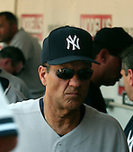 Washington, D.C. - June 18, 2006 -- New York Yankees manager Joe Torre wears a look of disgust after watching his pitcher, Chien-Ming Wang, give up a game-winning 2 run homer to Ryan Zimmerman in the bottom of the ninth inning against the Washington Nationals at RFK Stadium in Washington, D.C. on June 18, 2006.  The Nationals won the game 3 - 2..Credit: Ron Sachs / CNP