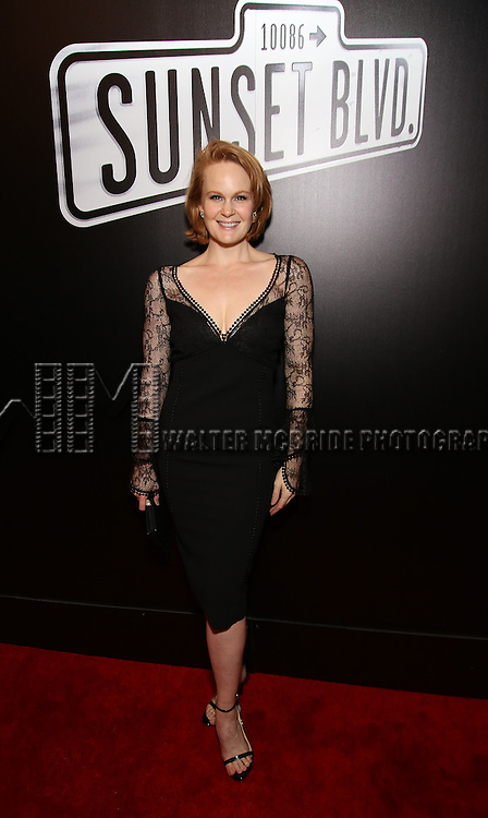 Kate Baldwin attend the Broadway Opening Night of Sunset Boulevard' at the Palace Theatre Theatre on February 9, 2017 in New York City.
