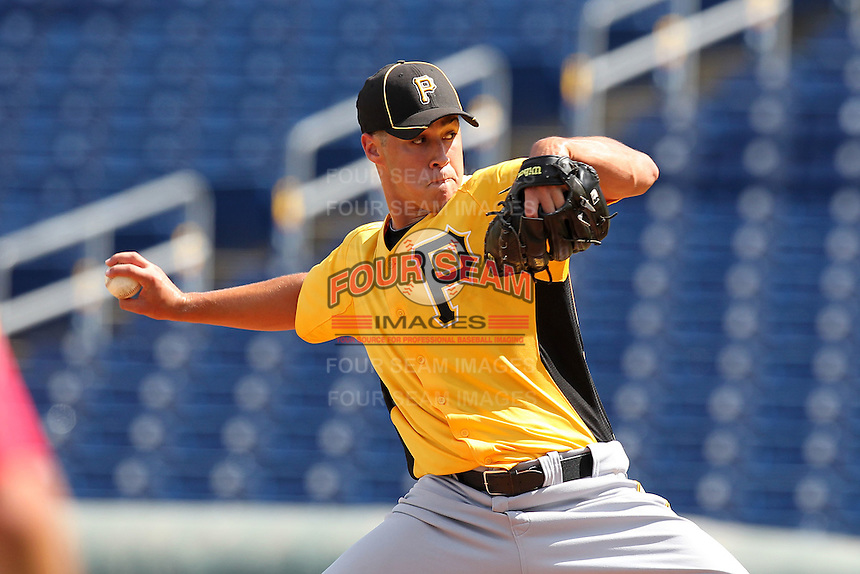 Pittsburgh Pirates pitcher Zachary Von Rosenberg #91 during an Instructional League game against the Philadelphia Phillies at Bright House Field on October 13, 2011 in Clearwater, Florida.  (Mike Janes/Four Seam Images)