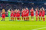14.04.2018, Allianz Arena, Muenchen, GER, 1.FBL,  FC Bayern Muenchen vs. Borussia Moenchengladbach, im Bild die Bayern feiern bei den Fans<br /> <br />  Foto &copy; nordphoto / Straubmeier
