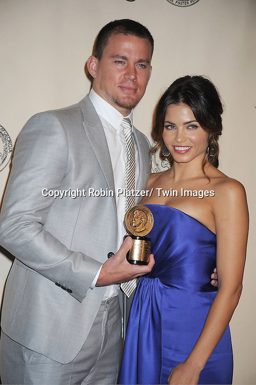 "Channing Tatum and  wife Jenna Dewan Tatum winners for ""Earth Madof Glass"" attends the 71st Annual Peabody Awards at the Waldorf Astoria Hotel in New York City on May 21, 2012."