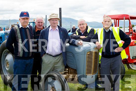 Gerard Murphy, David Jones, Ritchie O'Connor, Dan O'Riordan and Brendan Murphy at the Cullen Vintage Rally and Trashing on Sunday