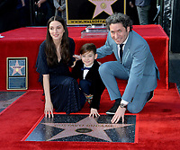 LOS ANGELES, CA. January 22, 2019: Gustavo Dudamel & wife Maria Valverde & son Martin at ceremony where conductor Gustavo Dudamel received a star on the Hollywood Walk of Fame.<br /> Picture: Paul Smith/Featureflash