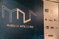 RIO DE JANEIRO; RJ; 01 DE MARÇO 2013 - Painel da inauguração do Museo de Arte do Rio de Janeiro (MAR) no dia dos 448 anos da cidade. FOTO: NÉSTOR J. BEREMBLUM - BRAZIL PHOTO PRESS.
