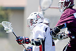 Los Angeles, CA 03/20/10 - Alex Demmeno (LMU # 11) and Mike Hook (Arizona # 2) in action during the Arizona-Loyola Marymount University MCLA game at Leavey Field (LMU).  LMU defeated Arizona 13-6.