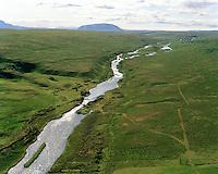 Brettingsstaðir, Laxá séð til suðurs, Þingeyjarsveit áður Reykdælahreppur / Brettingsstadir, Laxa river viewing south, Thingeyjarsveit former Reykdaelahreppur.