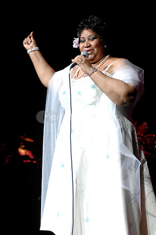 Aretha Franklin performing live at Radio City Music Hall in New York City, New York on March 21, 2008. © David Atlas / MediaPunch