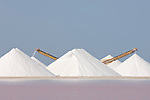 Bonaire, Netherlands Antilles; large, white piles of sea salt at the Cargill Salt Bonaire production facility on the southern part of the island , Copyright © Matthew Meier, matthewmeierphoto.com All Rights Reserved