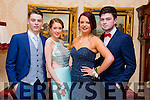 Enjoying the Mercy Mounthawk Debs at Ballyroe Heights Hotel on Tuesday were Conor Lowe, Emmer O'Connor, Emmer Hurley and Adam Guerin