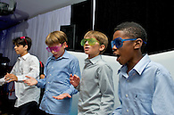 Boys having fun dancing at a Bar Mitzvah
