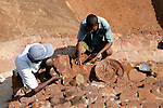 Men Rebuilding Ancient City of Sigiriya