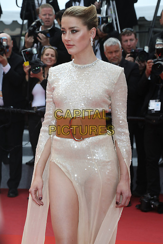 Amber Heard attends the LES MISÉRABLES premiere -72nd annual Cannes Film Festival  Cannes France on May 15 2019.<br /> CAP/GOL<br /> ©GOL/Capital Pictures