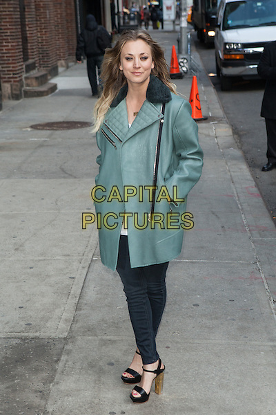 NEW YORK, NY -  FEBRUARY 24: Kaley Cuoco-Sweeting visits the Late Show With David Letterman on February 24, 2014 in New York City. <br /> CAP/MPI/COR<br /> &copy;Corredor99/ MediaPunch/Capital Pictures