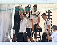 Marco Reus (Deutschland, Germany), Thomas Mueller (Deutschland Germany), Mats Hummels (Deutschland Germany) im Fitnesszelt - 26.05.2018: Training der Deutschen Nationalmannschaft zur WM-Vorbereitung in der Sportzone Rungg in Eppan/Südtirol