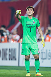 Suwon Goalkeeper Shin Hwayong gestures during the AFC Champions League 2017 Group G match between Guangzhou Evergrande FC (CHN) vs Suwon Samsung Bluewings (KOR) at the Tianhe Stadium on 09 May 2017 in Guangzhou, China. Photo by Yu Chun Christopher Wong / Power Sport Images