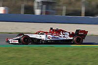 28th February 2020; Circuit De Barcelona Catalunya, Barcelona, Catalonia, Spain; Formula 1 Pre season Testing Week Two, Day 3; Alfa Romeo Racing Orlen, Kimi Raikkonen