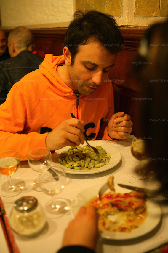 "RESTAURANTS, Cote d'Azur. France. Acchiardo restaurant, ""Merde de Can"" Green Gnocchi."