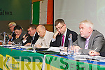 County Board Chairman Patrick O'Sullivan addresses the members at the Kerry GAA AGM in the Malton Hotel on Monday listening carefully were l-r: John Joe O'Carroll Treasurer, Ger Galvin vice-Chairman, Patrick O'Sullivan Chairman, Peter Twiss Secretary, Pat McTigue assistant Secretary and Eamon O'Sullivan Central Council Delegate