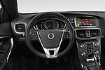 Car pictures of steering wheel view of a 2018 Volvo V40 R-Design 5 Door Hatchback