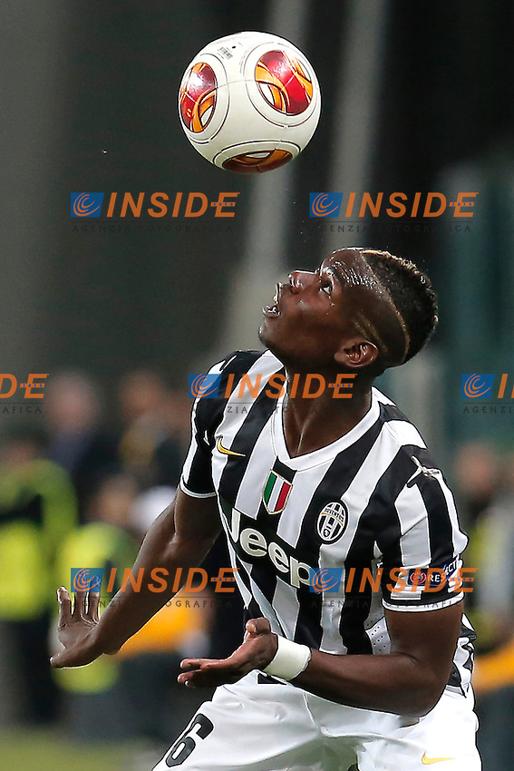 Paul Pogba Juventus, Torino 1-5-2014, Juventus Stadium, Football Calcio 2013/2014 Europe League, Juventus - Benfica, Foto Marco Bertorello/Insidefoto