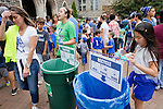 Duke faculty and staff were encouraged to compost and recycle their food scraps, plates, utensils, and soda cans during the Employee Kickoff Celebration and season opener against North Carolina Central University. Duke won the game 49-6 at the newly renovated Brooks Field at Wallace Wade Stadium.