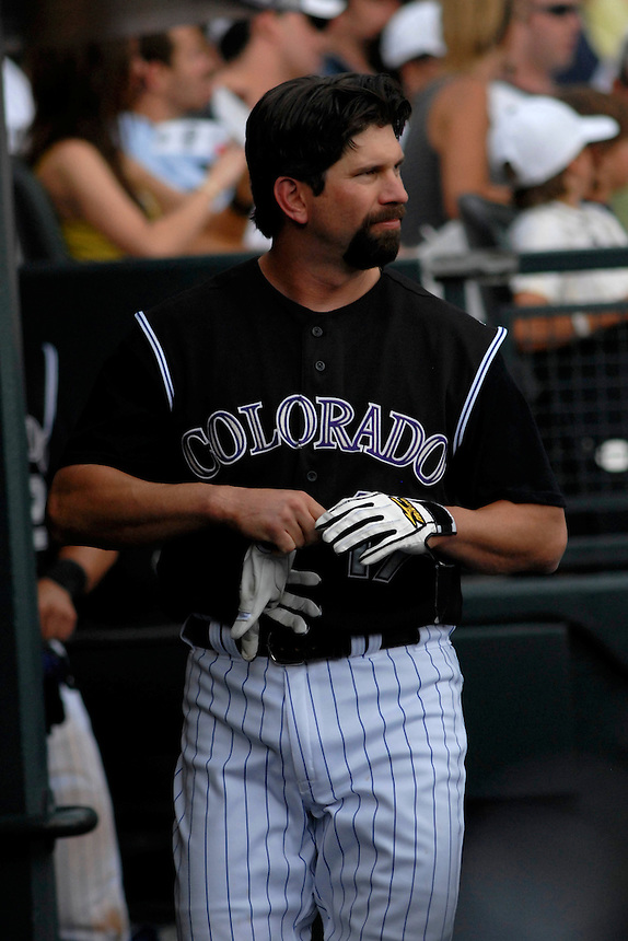 22 June 2008: Colorado Rockies 1st baseman Todd Helton during a game against the New York Mets. The Mets defeated the Rockies 3-1 at Coors Field in Denver, Colorado on June 22, 2008. FOR EDITORIAL USE ONLY. FOR EDITORIAL USE ONLY