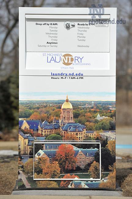 Mar. 8, 2011; St. Michael's Laundry kiosk..Photo by Matt Cashore/University of Notre Dame