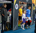 12.12.2019 Rangers v Young Boys Bern: Rangers team and mascots