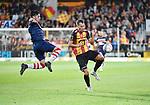 2018-08-27 / Voetbal / Seizoen 2018-2019 / KV Mechelen - Albert Quevy Mons / Antonio Debole met Cl&eacute;ment Tainmont (r. KV Mechelen)<br /> <br /> ,Foto: Mpics
