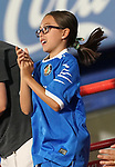 Getafe CF's kid supporter celebrates goal during friendly match. August 10,2019. (ALTERPHOTOS/Acero)