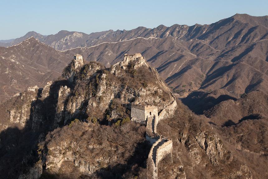 The view toward the most difficult part of Jiankou Great Wall taken near Zheng Bei Lou tower.