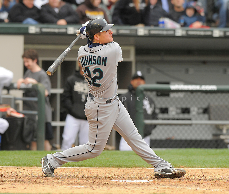 ROB JOHNSON, of the Seattle Mariners  , in action  during the Mariners  game against the Chicago White Sox on April 28, 2009 in Chicago, IL.  The White Sox beat  the Mariners  6-3  in Chicago,