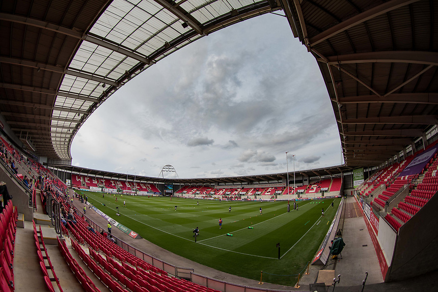 A general view of Parc Y Scarlets, home of Scarlets<br /> <br /> Photographer Simon King/CameraSport<br /> <br /> Guinness Pro14 Round 1 - Scarlets v Southern Kings - Saturday 2nd September 2017 - Parc y Scarlets - Llanelli, Wales<br /> <br /> World Copyright &copy; 2017 CameraSport. All rights reserved. 43 Linden Ave. Countesthorpe. Leicester. England. LE8 5PG - Tel: +44 (0) 116 277 4147 - admin@camerasport.com - www.camerasport.com