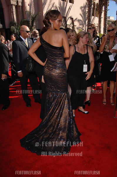 Model TYRA BANKS at the 2006 Primetime Emmy Awards at the Shrine Auditorium, Los Angeles..8 27, 2006 Los Angeles, CA.© 2006 Paul Smith / Featureflash