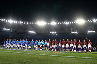 AS Roma and Gent players before the match<br /> Roma 20-02-2020 Stadio Olimpico <br /> Football Europa League 2019/2020 Round of 32 first leg <br /> AS Roma -  Kaa Gent<br /> Photo Andrea Staccioli / Insidefoto