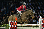Pius Scwhizer of Switzerland riding on PSG Future competes during the EEM Trophy, part of the Longines Masters of Hong Kong on 10 February 2017 at the Asia World Expo in Hong Kong, China. Photo by Marcio Rodrigo Machado / Power Sport Images