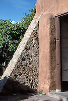 Buttress detail, Mission San Miguel, Santa Fe, New Mexico
