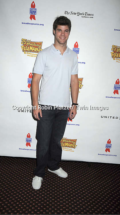 Nic Robuck attends the 25th Annual Broadway Flea Market and Grand Auction benefiting Broadway Cares/ Equity Fights Aids on September 25, 2011 at Shubert Alley.