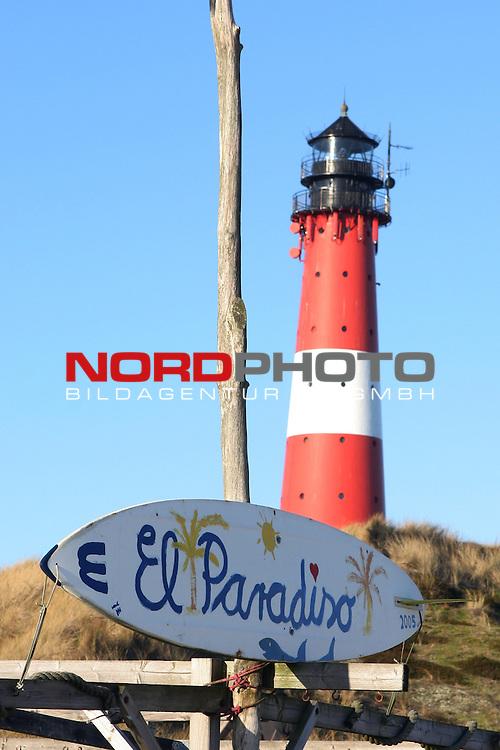 08.08.2013, Nordseeinsel Sylt, GER, im Bild Leuchtturm in Hoernum-Sylt, Foto © nph / Kohring
