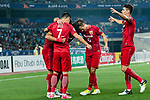Shanghai FC Forward Elkeson De Oliveira Cardoso (H) celebrating his goal with his teammates during the AFC Champions League 2017 Round of 16 match between Jiangsu FC (CHN) vs Shanghai SIPG FC (CHN) at the Nanjing Olympic Stadium on 31 May 2017 in Nanjing, China. Photo by Marcio Rodrigo Machado / Power Sport Images