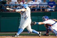 UCLA's Chris Giovinazzo against Florida in Game 2 of the NCAA Division One Men's College World Series on Saturday June 19th, 2010 at Johnny Rosenblatt Stadium in Omaha, Nebraska.  (Photo by Andrew Woolley / Four Seam Images)