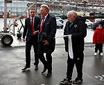 Tony Currie chats to Mark Duffy of Sheffield Utd as they arrive at the ground during the Championship match at Bramall Lane Stadium, Sheffield. Picture date 30th December 2017. Picture credit should read: Simon Bellis/Sportimage
