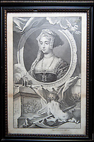 BNPS.co.uk (01202 558833)<br /> Pic: PhilYeomans/BNPS<br /> <br /> The Binney families print of Jane Seymour.<br /> <br /> Historic Wolf Hall, home to the Seymour family and star of Hilary Mantel's famous trilogy on Henry VIII th, has finally been definitively located after new discoveries around the much smaller ramshackle house that remains today. <br /> <br /> Despite it's fame, nobody really knew where the enormous Tudor pile actually was, or what it looked like, due to its very short but very influential existance in the middle of the tumultuous 16th century.<br /> <br /> Built with a million pound loan (&pound;2,400) from King Henry in 1531, brokered by Thomas Cromwell, the huge house was rapidly brick built in time for the King's pivotal visit with the court and troublesome wife Anne Boleyn in 1535, at which point Sir John Seymour's daughter Jane caught his eye, within a year Anne was dead and Jane, and the rest of the Seymour clan were in.<br /> <br /> They benefitted massively from Royal patronage and the dissolution of the monastries, but it all went wrong when Henry died and the brothers fell out and were later executed in a spectacular fall from power only 21 years after the house was built.<br /> <br /> Historian Graham Bathe and his team have now uncovered part of the outline of the original building, as well as the extensive Tudor brick sewer system that proves the huge scale of the 16th century mansion.