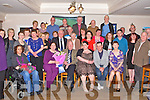 RETIREMENT: Jim Glancey, Milltown (seated centre) who retired from Kerry County Library after 20 years celebrating with family and friends at the Strand Road clubhouse, Tralee on Saturday.