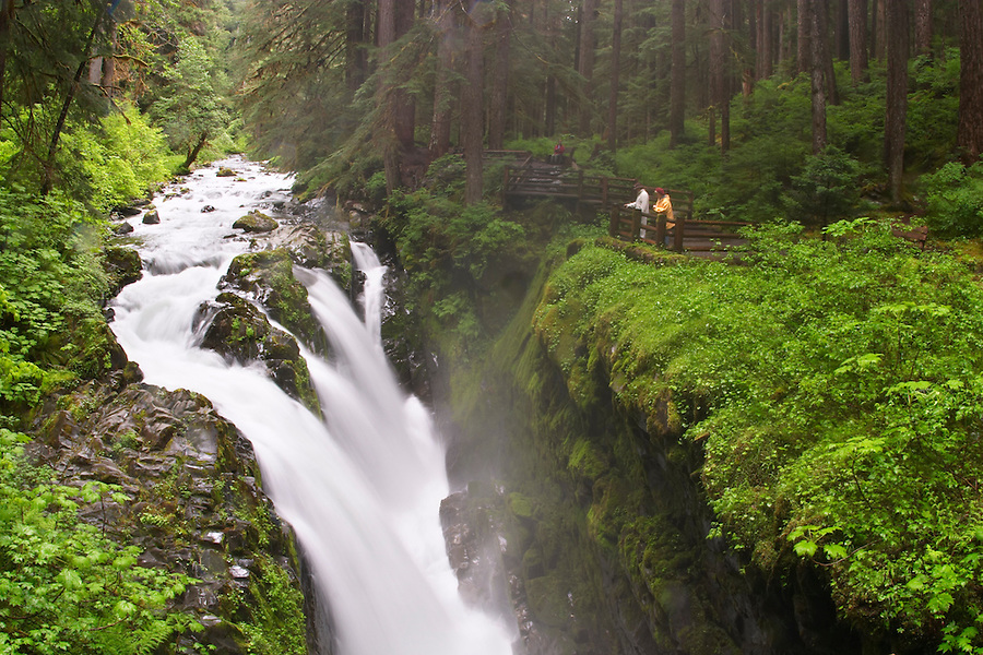 Soleduck Falls, Olympic National Park, Olympic Peninsula, Clallam County, Washington, USA