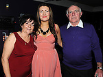 Olivia Gregory celebrating her 30th birthday in the Star and Crescent with parents Jimmy and Pat. Photo: Colin Bell/pressphotos.ie
