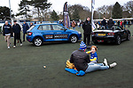 Home fans in the Fan Zone outside the stadium before Ipswich Town play Oxford United in a SkyBet League One fixture at Portman Road. Both teams were in contention for promotion as the season entered its final months. The visitors won the match 1-0 through a 44th-minute Matty Taylor goal, watched by a crowd of 19,363.