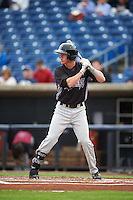 Wisconsin Timber Rattlers second baseman Tucker Neuhaus (10) at bat during the first game of a doubleheader against the Quad Cities River Bandits on August 19, 2015 at Modern Woodmen Park in Davenport, Iowa.  Quad Cities defeated Wisconsin 3-2.  (Mike Janes/Four Seam Images)